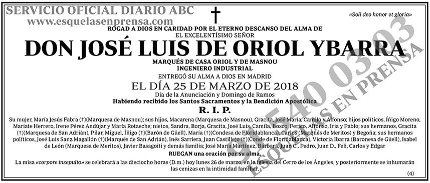 José Luis de Oriol Ybarra
